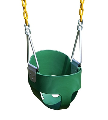 Eastern Jungle Gym Heavy Duty High Back Full Bucket Swing w/ Coated Chain