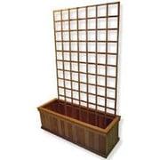 Diamond Teak Wood Lattice Panel Trellis; 24'' H x 36'' W