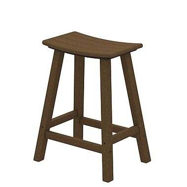 POLYWOOD Traditional 24'' Bar Stool; Teak