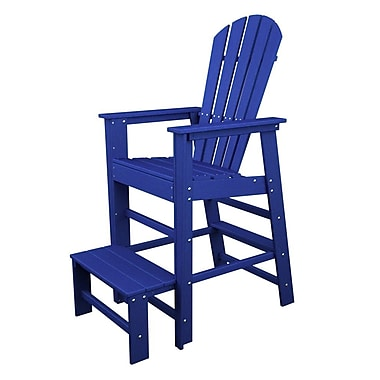 POLYWOOD South Beach 30'' Bar Stool; Pacific Blue