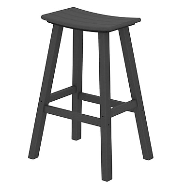 POLYWOOD Traditional 30'' Patio Bar Stool; Slate Grey