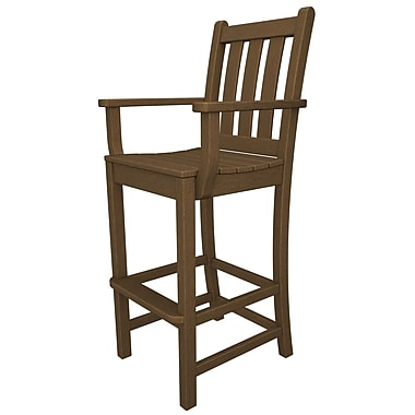 POLYWOOD Traditional 30'' Bar Stool; Teak