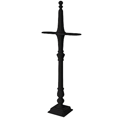 Salsbury Industries Classic 5 Ft. H Surface Multi-Mount Post; Black