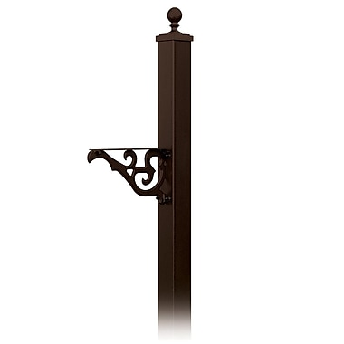 Salsbury Industries 7 Ft. H In-Ground Decorative Post; Bronze