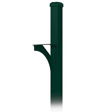 Salsbury Industries 7 Ft. H In-Ground Decorative Post; Green