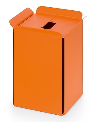 WS Bath Collections Complements Bandoni 5 Gallon Trash Can; Orange