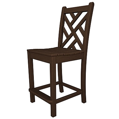 POLYWOOD Chippendale 24'' Bar Stool; Mahogany