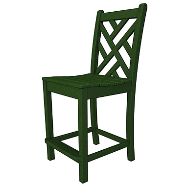 POLYWOOD Chippendale 24'' Bar Stool; Green
