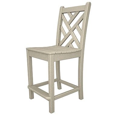 POLYWOOD Chippendale 24'' Bar Stool; Sand