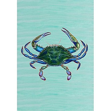 Betsy Drake Interiors Male Blue Crab Vertical Flag; 40'' H x 28'' W