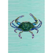 Betsy Drake Interiors Male Blue Crab Vertical Flag; 18'' H x 12'' W