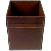 Dacasso 3200 Series Rustic Leather 4 Gallon Plastic Trash Can