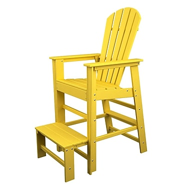POLYWOOD South Beach 30'' Bar Stool; Lemon