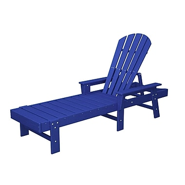 POLYWOOD South Beach Chaise Lounge; Pacific Blue