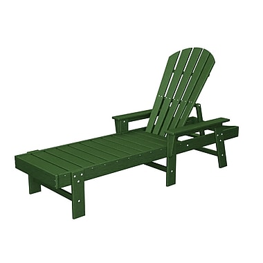 POLYWOOD South Beach Chaise Lounge; Green