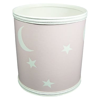 Redmon for Kids Stars and Moons 3 Gallon Waste Basket; Pink