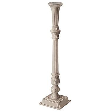 Salsbury Industries Classic 3.5 Ft. H Surface Mount Decorative Post; Beige