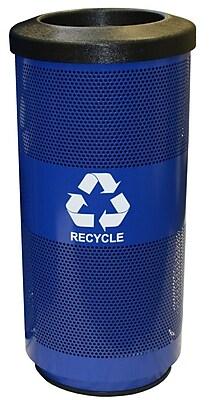 Witt Metal Recycling 20 Gallon Recycling Bin; Round Hole
