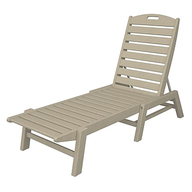 POLYWOOD Nautical Chaise Lounge ; Sand