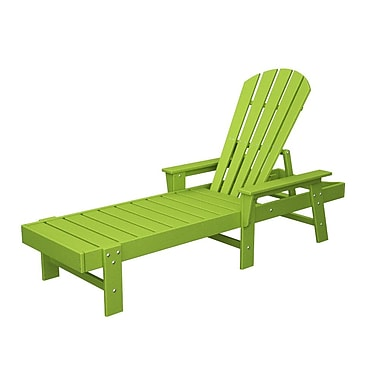 POLYWOOD South Beach Chaise Lounge; Lime