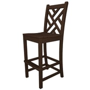 POLYWOOD  Chippendale 30'' Bar Stool; Mahogany