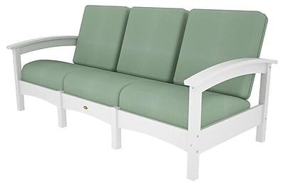 Trex Rockport Club Sofa; Classic White / Spa