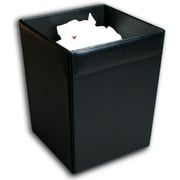 Dacasso 1000 Series Classic Leather 3.5 Gallon Plastic Trash Can; Black