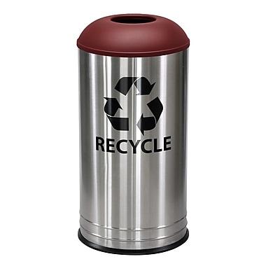 Ex-Cell Kaiser Stainless Steel 18 Gallon Recycling Bin; Burgundy Texture