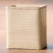 LaMont Carter Wicker Trash Can; Linen