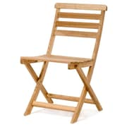 All Things Cedar Chinese Oak Bistro Folding Patio Dining Chair w/ Cushion