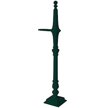Salsbury Industries Classic 5 Ft. H Surface Mount Decorative Post; Green