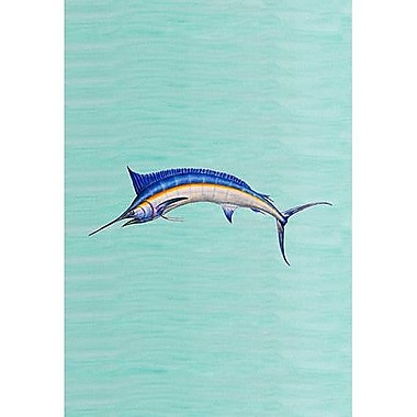 Betsy Drake Interiors Blue Marlin Vertical Flag; 12'' W x 18'' H