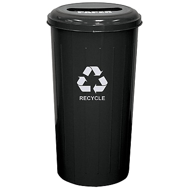 Witt Metal Recycling 20 Gallon Recycling Bin; Black