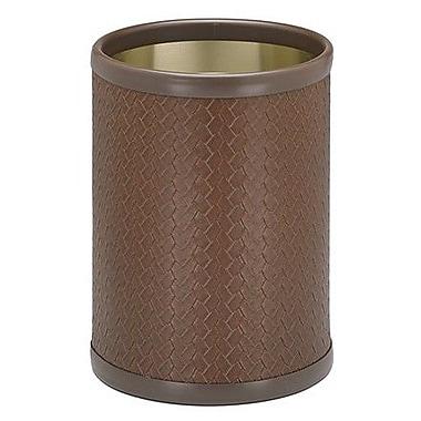 Kraftware San Remo 2 Gallon Waste Basket; Brown
