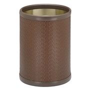 Kraftware San Remo 2 Gallon Waste Basket; Brown