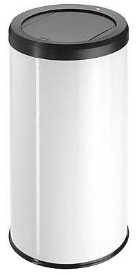 Hailo USA Inc. Big Bin 12.2 Gallon Swing Top Trash Can; White