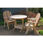 Creekvine Designs Cedar Fanback Bistro Set; No Finish