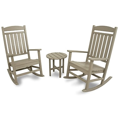 Ivy Terrace 3 Piece Rocker Seating Group; Sand
