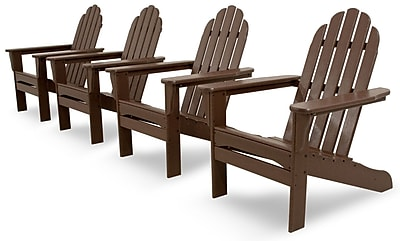 Ivy Terrace 4 Piece Conversation Set; Mahogany