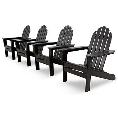 Ivy Terrace Ivy Terrace Classics 4 Piece Adirondack Seating Group; Black