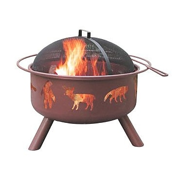Landmann Big Sky Wildlife Steel Wood Burning Fire pit; Georgia Clay