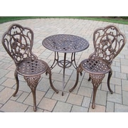 Oakland Living Hummingbird 3 Piece Bistro Set