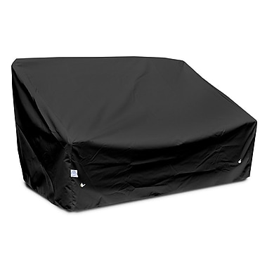 KoverRoos Weathermax Deep Highback Loveseat/Sofa Cover; Black