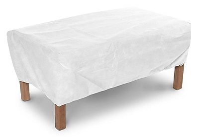 KoverRoos DuPont Tyvek Ottoman / Small Table Cover; 15'' H x 24'' W x 48'' D
