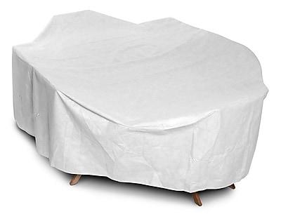 KoverRoos DuPont Tyvek Rectangular Dining Set Cover; 36'' H x 80'' W x 140'' D