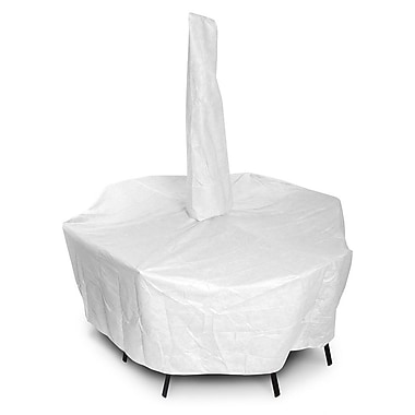 KoverRoos DuPont Tyvek Rectangular Dining Set Cover w/ Umbrella Hole; 28'' H x 74'' W x 132'' D