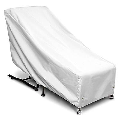 KoverRoos Weathermax Chair and Ottoman Cover; White