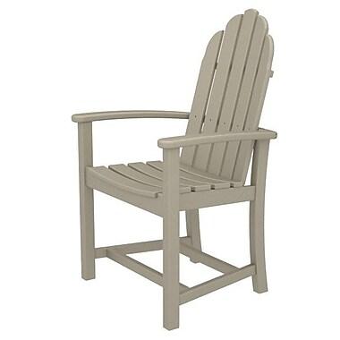 POLYWOOD Adirondack Patio Dining Chair; Sand
