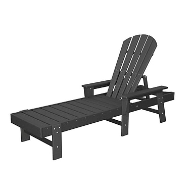 POLYWOOD South Beach Chaise Lounge; Slate Grey