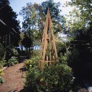 Rustic Cedar Pyramid Wood Obelisk Trellis